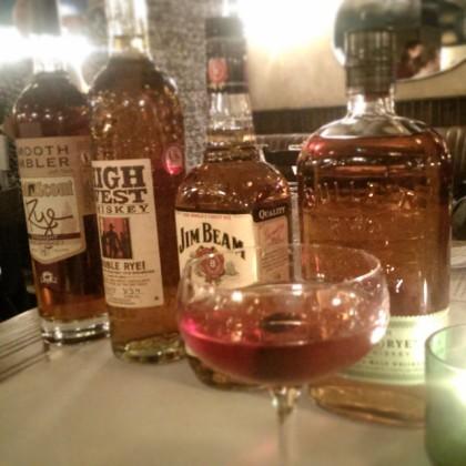 Rye Whiskey Tasting