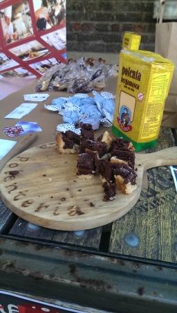 Yelp Science Soiree Polenteria cake